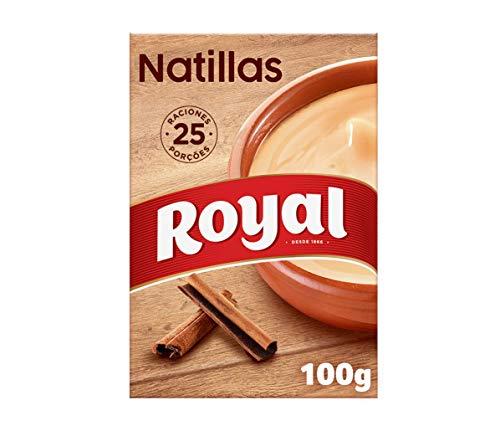 Royal Natillas Caseras Receta Tradicional, Preparado en Polvo 25 Raciones, 100g