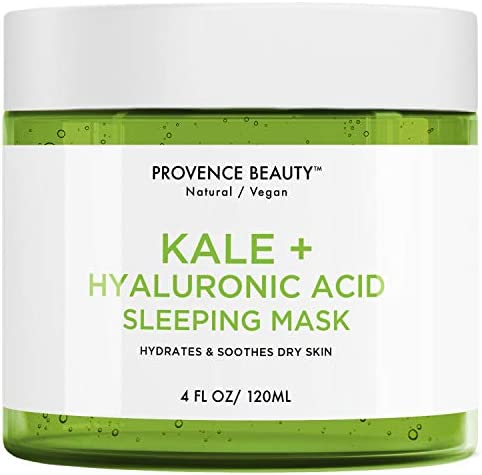 Kale and Hyaluronic Acid Gel Face Mask Hydrating Face and Neck Moisturizer for Anti Aging Wrinkle product image