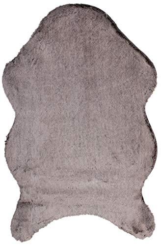 Brandsseller Kunstfell Teppich ca. 60 x 90 cm cm Bettvorleger Dekoteppich Kunstfell-Optik Kuschelfell Beige