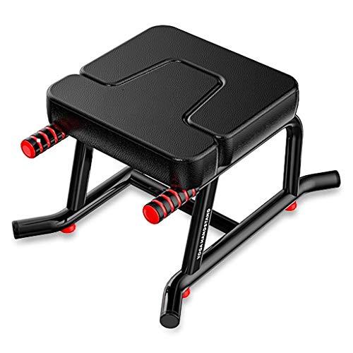 Kopfstandhocker,Meditationsbänke, Yoga Headstand Bench, Unterstützung Faltbarer Balance-Training Gym - Holz- Und PU-Pads Lindern Ermüdung Und Bauen Sie Den Körper Auf (Color : Black)