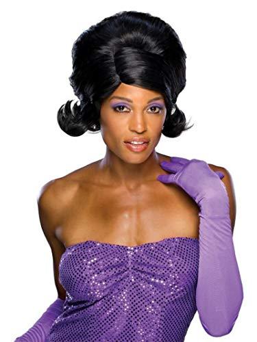 Rubie's Dream Glam Diva Wig, Black, One Size
