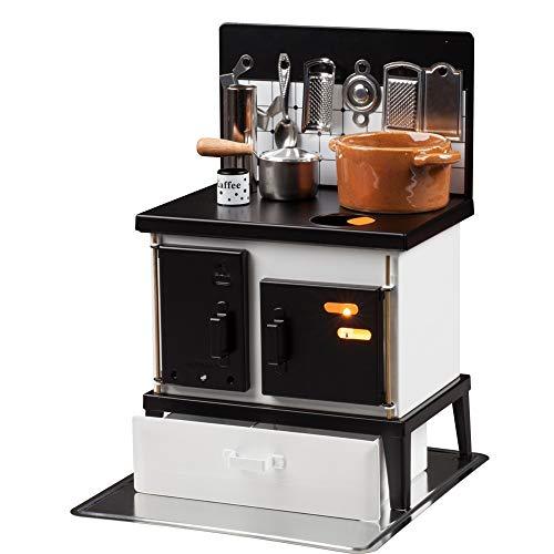 HUSS Multi-Purpose Steel Oven Stove Miniature Kitchen German Incense Smoker Oil Diffuser Cup Warmer (White/Black)