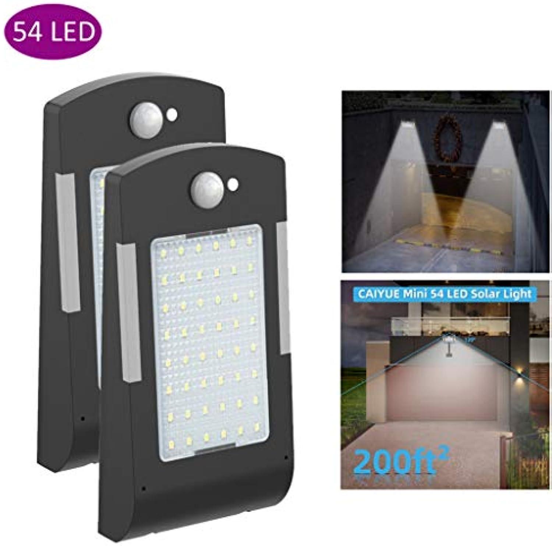 LIJUEZL Led solarlampe mit bewegungsmelder54 LED Solarleuchten Outdoor-Bewegungssensor, 2Pack wasserdichte Wandleuchten Garden Security Lights