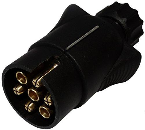 AERZETIX: Enchufe 7 Pin Macho Toma conectador de Remolque 7 broches 12V 6mm C12375 Enganche Haz cablea cableado Luces traseras Stop