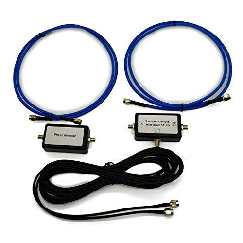 Xzbnwuviei Tragbare passive Magnetschlaufen-Antenne, 250 mW, YouLoop, Magnetantenne, tragbar, passive Magnetschlaufen-Antenne mit geringem Verlust, Breitband-Balun für HF und UKW