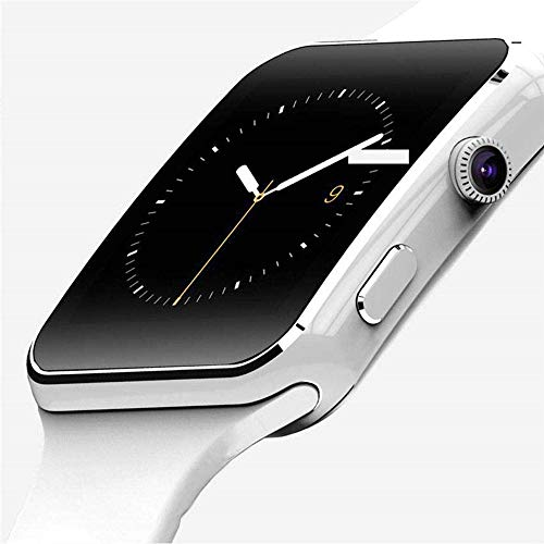Bluetooth Smart Watch Men with Camera Touch Screen Wrist Smartch Watch for Android IOS Phone Sports Smartwatch Women Sim Card, white