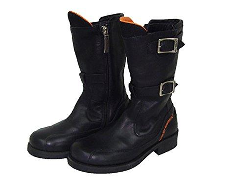 Harley Davidson HD35 laarzen dubbel leer zwart maat 27