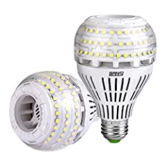 💡SUPER BRIGHT & HEALTHY LIGHT: 4000 high lumen LED bulbs with 270°wide beam angle provide an all-around light distribution. 5000K natural daylight light bulb with CRI 80 provides no harsh-glare healthy light as well as true color temperature experien...