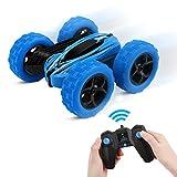 Dreamsbox Coche Teledirigido, RC Coche, Stunt Coche Teledirigido 4x4 Coche RC 1:24 2.4GHz Stunt RC Car Rotacin de 360 Grados de Alta Velocidad Controlremoto para Nios/Adultos (Azul)