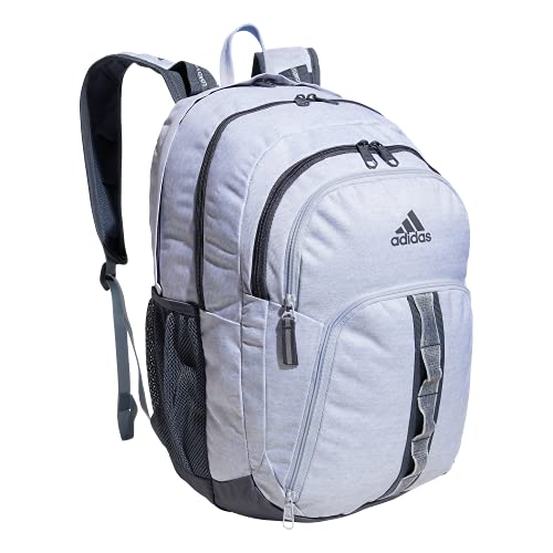 adidas Prime 6 Backpack, Jersey White/Onix Grey/Halo Blue, One Size