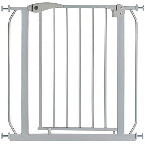 ib style® Berrin Cancelletto di sicurezza 67-175cm | Porte o scale | Senza perforazione | Auto-Close | 90° Stop |Argento |135-145 cm