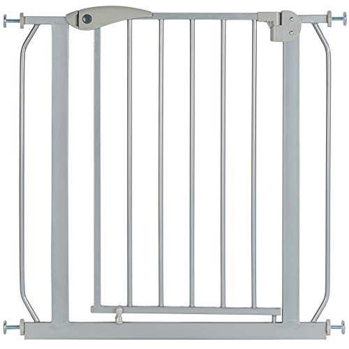 ib style® Berrin Treppengitter 67-175cm | Türschutzgitter | Ohne Bohren | 90° Stop | Auto-Close | Silbermatt |150-160 cm