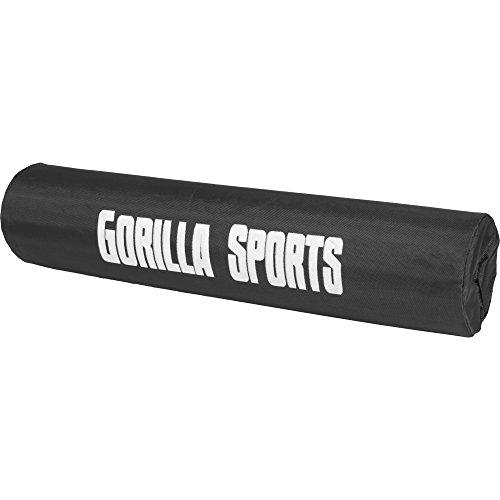 GORILLA SPORTS® Nackenpolster/Stütze für Langhantelstange Schwarz mit Verschluss