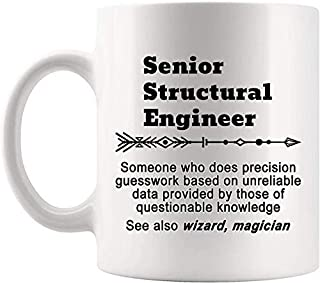 Definition Senior Structural Engineer Meaning Mug Present - Engineering 11Oz Coffee Cup - Gag Gifts For Men Women T-Shirt ...