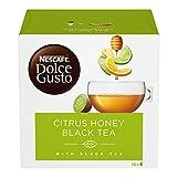 NESCAFÉ Dolce Gusto Citrus Honey Black TeaTè al Gusto di Agrumi, Miele e Zenzero 16 Caps...