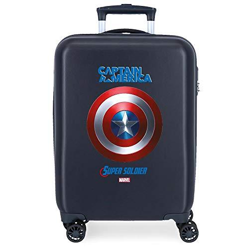 Marvel Los Vengadores Sky Avengers Maleta de cabina Azul 37x55x20 cms Rígida ABS Cierre combinación 34L 2,6Kgs 4 Ruedas Dobles Equipaje de Mano