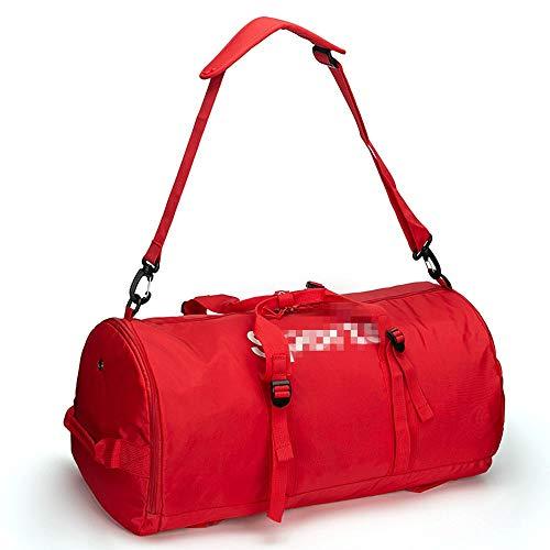 Molletons de Sport Sac Voyage Sac Fitness Sports de Grande capacité Portable Sac Voyage Grand Paquet de capacité Sacs de Sport Grand Format (Color : Red, Size : One Size)