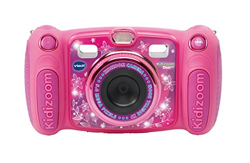 Vtech Kidizoom Duo 5.0 Digitale Kamera für Kinder, 5 MP, Farbdisplay, 2 Objektive, Pink Englische Version Rosa
