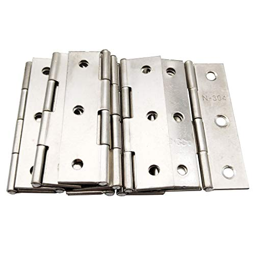 Sipery 10Pcs Folding Butt Hinges Stainless Steel 2.68 Inch Home Furniture Hardware Door Hinges for Cabinet Gate Closet Door