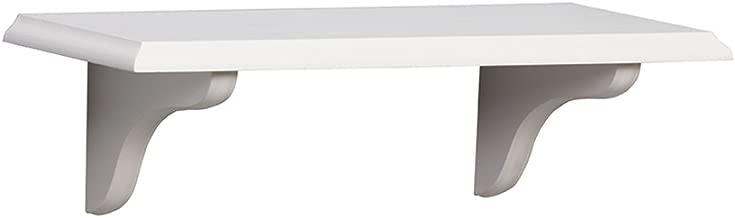 Shelf-Made KT-0148-818WT Wood Shelf Kit, White, 8-Inch by 18-Inch