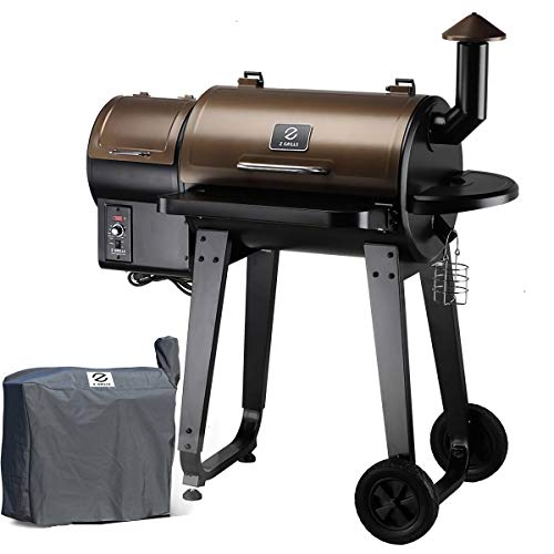 Z GRILLS Wood Pellet Grill & Smoker with Auto Digital Temperature Control, 450 sq. inch Cooking - Grill, Smoke, Bake, Sear, Roast, Braise and BBQ, Free Grill Cover