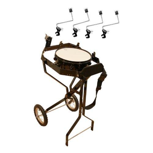Schlagzeugwagen für 4 Toms, mit Snare, Hi-Hat Rosette, 4 Beckenhalter
