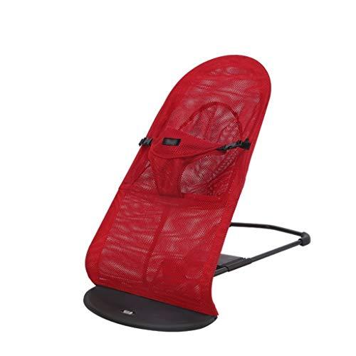 Xiao Jian- Chaise berçante pour bébé Automatique Berceau inclinable Musique Section filé Coton Chaud Coton Chaise berçante bébé (Couleur : Red, Edition : B)