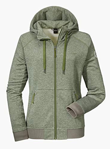 Schöffel Akureyri Sweat à capuche Femme - Vert (Loden Green) - 48(Taille Fabricant:XXXXL)