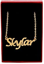 Zacria Skylar Name Necklace - 18ct Gold Plated