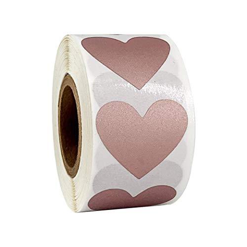 HBWHY - 300 pegatinas para raspar en forma de corazón, etiquetas de...