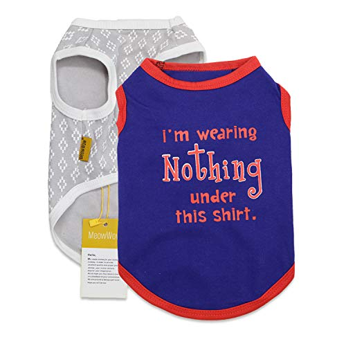XS Dog Clothes Puppy Tshirts Extra Small Shirts Dog Cotton T Shirt for Small Dogs, Pack of 2, XS