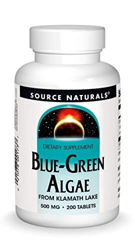 Source Naturals Blue-Green Algae 500 mg From Klamath Lake - 200 Tablets