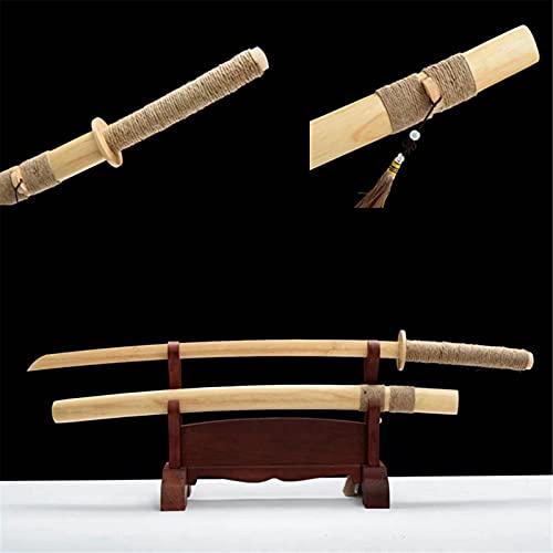 Katana de bambú Natural de 104cm, Espada samurái Hecha a Mano con Vaina, Utilizada para Cosplay, Entrenamiento de Kendo, colección, decoración del hogar