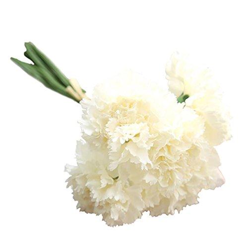 Display08 6 branches Bouquet artificielle œillets Fleurs Home Decor