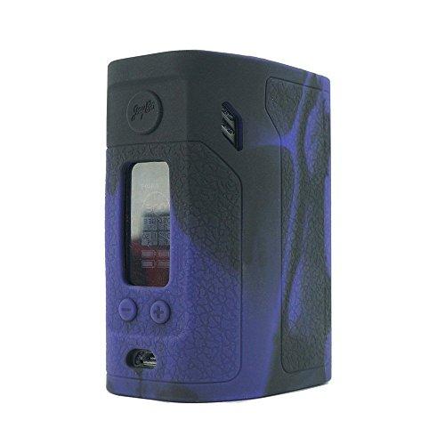 ModShield for Wismec Reuleaux RX300 TC 300W Silicone Case ByJojo Sleeve Skin Wrap Cover (Purple/Black)