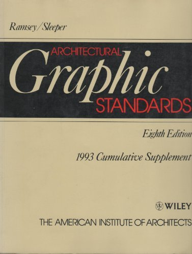 Architectural Graphic Standards: 1993 Cumulative Supplement
