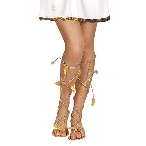 Boland 00678 - Antike Lorbeerblatt Sandalen, Römersandalen, Römer Schuhe, Königin, Ägypterin, Cleopatra, griechische Göttin, Mottoparty, Accessoire, Karneval