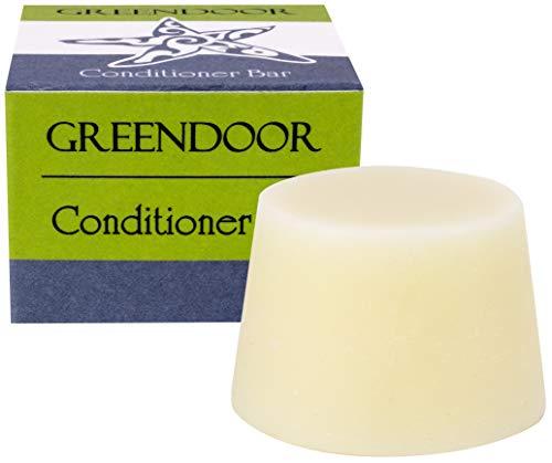 Greendoor Haar Conditioner Bar 33g, natürliche Haarspülung fest ohne Silikon und Plastik, Naturkosmetik anti Spliss frizz, frischer Duft, Natur Pflege für Haare, seidiger Glanz, perfekte Kämmbarkeit