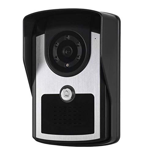 CHAO videodeurintercom HD 7 inch TFT bewakingscamera-systeem, 2-weg intercomfunctie, vocht- en regenbestendig, multifunctioneel, duurzaam, geschikt voor thuis of op kantoor