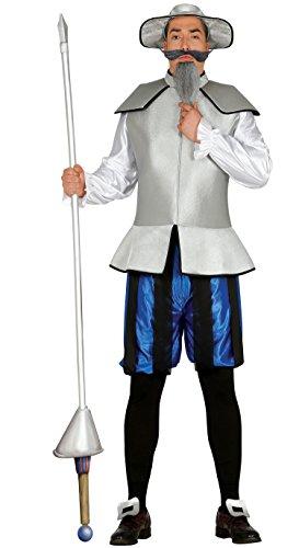 Guirca- Disfraz adulto caballero errante, Talla 52-54 (84536.0) , color/modelo surtido