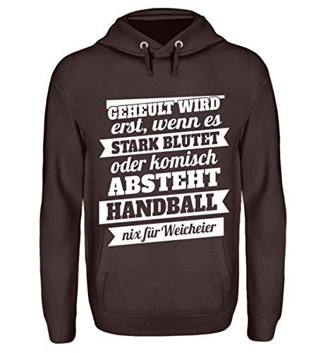 Shirtee Handball – Nix für Weicheier - Unisex Kapuzenpullover Hoodie -XL-Schokolade