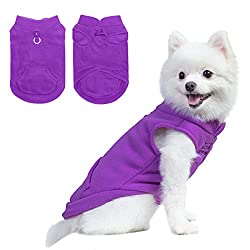 Dog fleece jacket with pocket