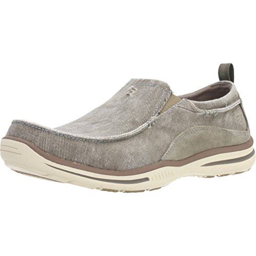 Skechers Men's Relaxed Fit Elected Drigo Slip-On Loafer,Taupe,11 D US