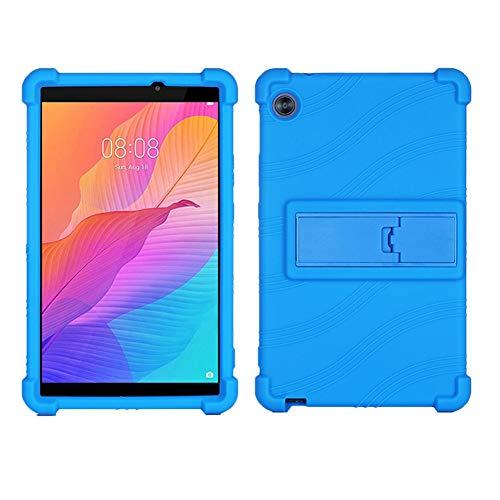 ZONLIN Genérico Silicona Funda Carcasa para Huawei 2020 C3 BZD-W00 / AL00 Tableta de 8 Pulgadas, con Stand Función, Azul