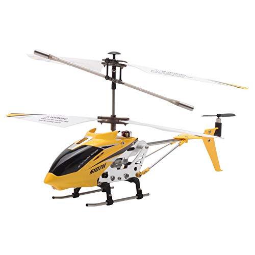 Helicóptero SYMA RC S107H con función de sobrevuelo 3.5CH RC Ofrece Juguetes voladores para niños y niños,Yellow