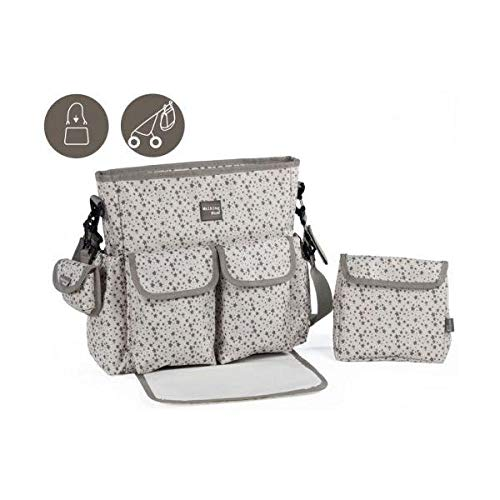 Walking Mum Stars Be - Bolsa canastilla, unisex, color gris