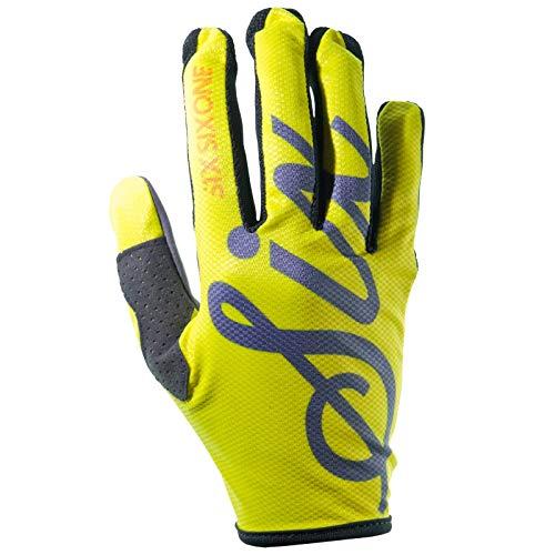 SixSixOne Comp Handschuhe Yellow Script Handschuhgröße S | 8 2020 Fahrradhandschuhe