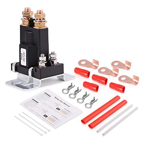 Preisvergleich Produktbild Winjun DC 500A 12V Auto KFZ Relais Set Umschaltrelais Wechselrelais mit Terminal Schrumpfschlauch Kabelbinder Kabelschuhe für Automotive Electronik