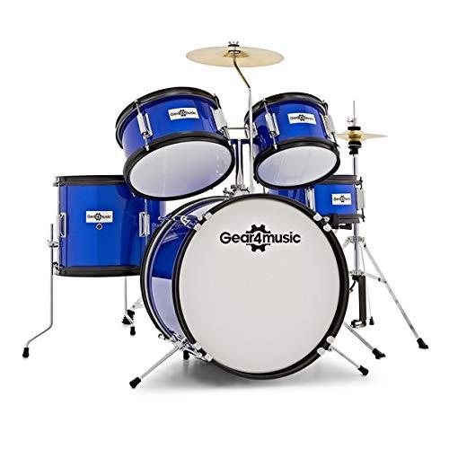 Batterie Junior 5 Fûts par Gear4music Bleue