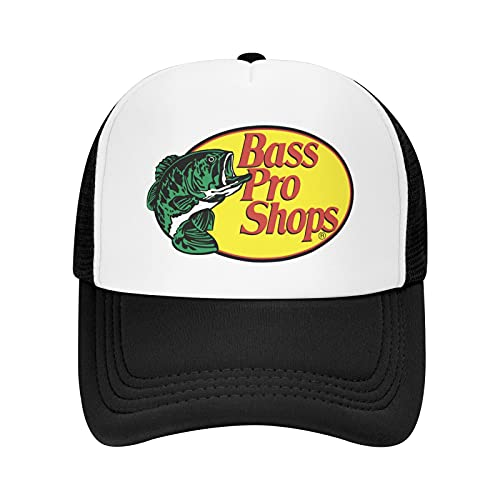 Bass Pro-Shops Trucker Hat Sports Baseball Cap Casual Unisex Leisure Adjustable Hat Hip-Hop Style Cap Suitable for All Seasons Sports, Outdoor,Daily and Party